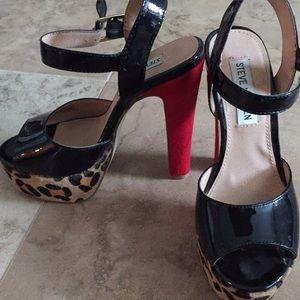 Steve Madden black high heel platforms